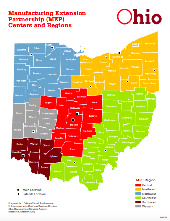 Manufacturing Extension Partnership (MEP) Centers and Regions